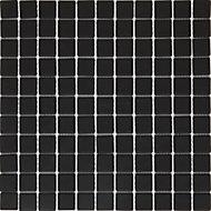 Mosaïque noir 30x30cm Perouso