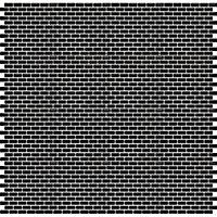 Mosaïque noir 30x30cm Trentie