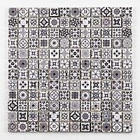 Mosaïque noir et blanc 2,2 x 2,2 cm Bada travertin