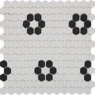 Mosaïque noir et blanc 30x30cm Glina