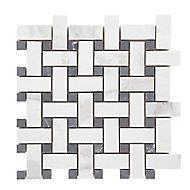 Mosaïque noir et blanc 30x30cm Ultimate marble