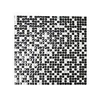 Mosaïque noire argent 30 x 30 cm Akira