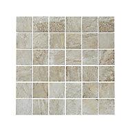 Mosaïque sol et mur beige 30 x 30 cm Shaded