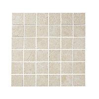 Mosaïque sol et mur beige 30 x 30 cm Soft Lime Stone