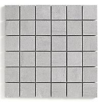 Mosaïque sol et mur gris 30 x 30 cm Oikos