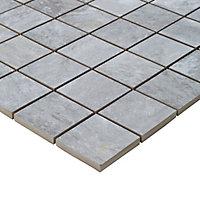 Mosaïque sol et mur gris 30 x 30 cm Shaded
