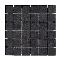 Mosaïque sol et mur noir 30 x 30 cm Oikos