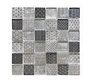 Mosaïque Tennessee noir et blanc 4,8 x 4,8 cm