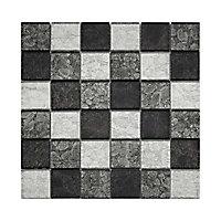 Mosaïque verre mix gris 4,8 x 4,8 cm