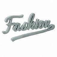 """Mot décoratif jaune à paillettes """"Fashion"""""""