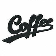 "Mot décoratif noir ""Coffee"""