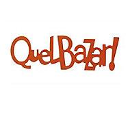 """Mot décoratif orange """"Quel bazar"""""""
