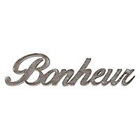 "Mot decoratif beige ""Bonheur"""