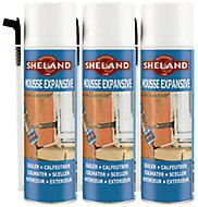Mousse expansive Sheland 500 ml (lot de 3)