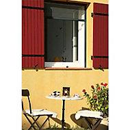 Moustiquaire de fenêtre enroulable en alu gris 125 x h.150 cm