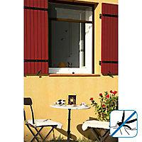 Moustiquaire de fenêtre enroulable en alu marron Kocoon 125 x h.150 cm