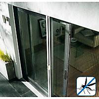 Moustiquaire de porte plissée en alu blanc Kocoon 120 x h.220 cm