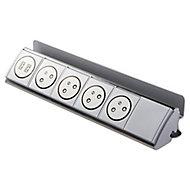 Multiprise 4 prises & 2 USB Otio à câbler