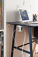 Multiprise 4 prises Diall CUBE & USB 3m