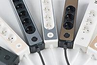 Multiprise 5 prises Schneider Electric Odace blanc 1.5 m