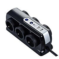 Multiprise 6 prises parafoudre USB Diall 2m noir