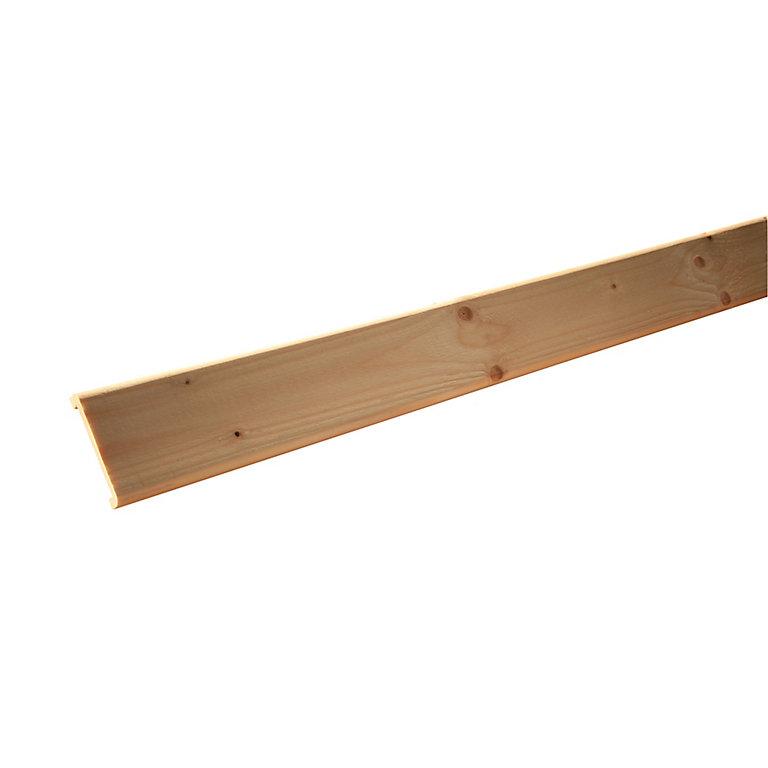 nez de cloison sapin 21 x 87 mm l25 m  castorama