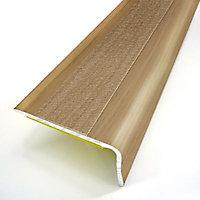 Nez de marche chêne rustique adhésif, 36/24 mm, 95 cm.