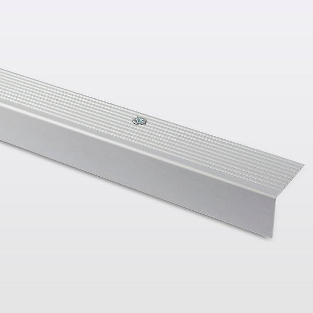 Nez De Marche En Aluminium Decor Metal Mat Goodhome 35 X 25 X 1800 Mm Castorama