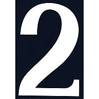 """Numéro de rue chiffre """"2"""" adhésif"""