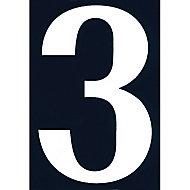 """Numéro de rue chiffre """"3"""" adhésif"""