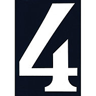 """Numéro de rue chiffre """"4"""" adhésif"""