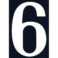 """Numéro de rue chiffre """"6"""" adhésif"""