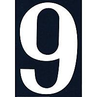 """Numéro de rue chiffre """"9"""" adhésif"""