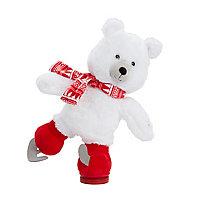 Ours polaire animé faisant du patin à glace