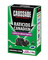 Pâte raticide canadien Espèces résistantes Caussade