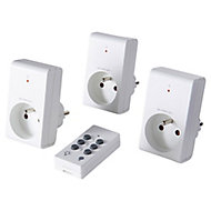 Pack 3 prises + 1 télécommande d'éclairage intérieur 1kW