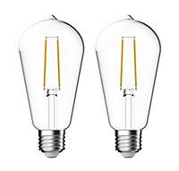 Pack de 2 ampoules E27 40W Edison transparent Nordlux