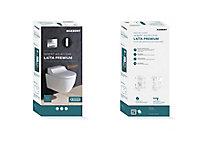 Pack WC japonais lavant suspendu Geberit Laita Premium Rimfree