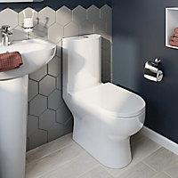 Pack WC à poser adosser au mur sans bride sortie horizontale GoodHome Cavally