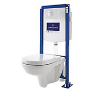 Pack WC suspendu sans bride Villeroy & Boch Direct Flush