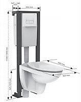 Pack WC suspendu Siamp Topaze