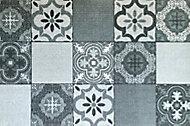Paillasson intérieur Carreaux de ciment gris 50 x 75 cm