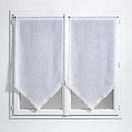 Paire de vitrage Jalousie 60 x 120 cm