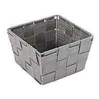 Panier carré plastique gris Cooke & Lewis Manly petit modèle