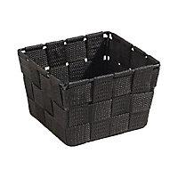 Panier carré plastique noir Cooke & Lewis Manly petit modèle