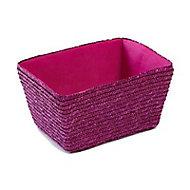 Panier de rangement tressé Cali coloris violet