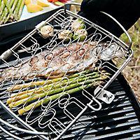 Panier à poisson grand modèle pour barbecue Weber