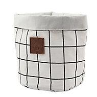 Panier polyester blanc et noir Aetna