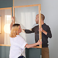 Panneau Alara blanc 100 x h.12,5 cm
