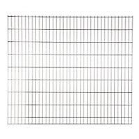 Panneau de clôture grillagée Blooma Koura noir 198,5 x h.173 cm